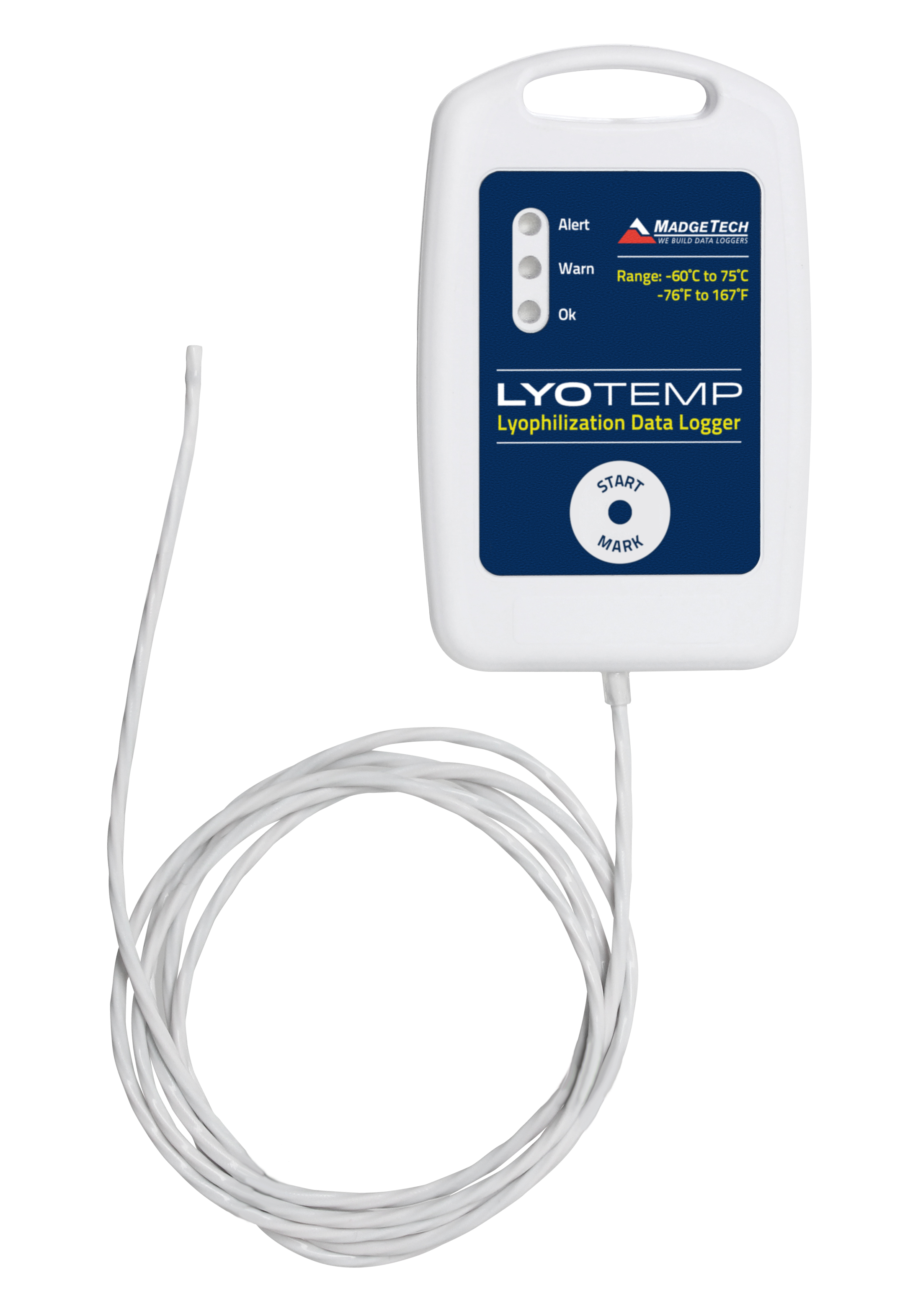 LyoTemp low temperature Lyophilization Data Logger