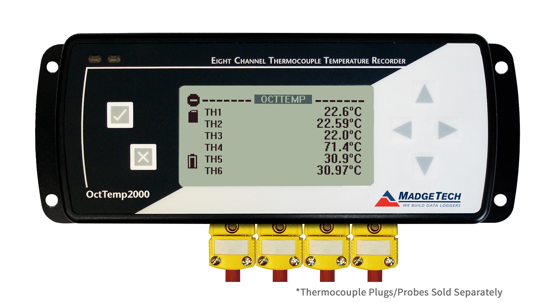 OctTemp2000 4 channel data logger