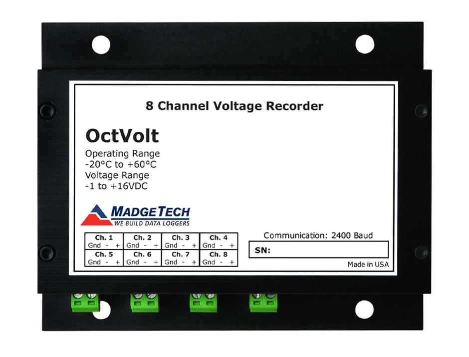 OctVolt 8 channel voltage data logger