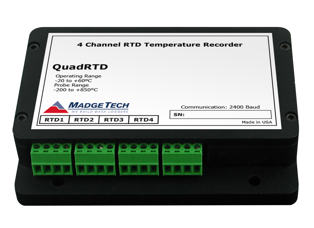 QuadRTD 4 channel PT100 data logger