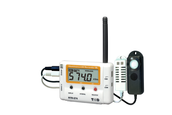 Light humidity and temperature wireless data logger