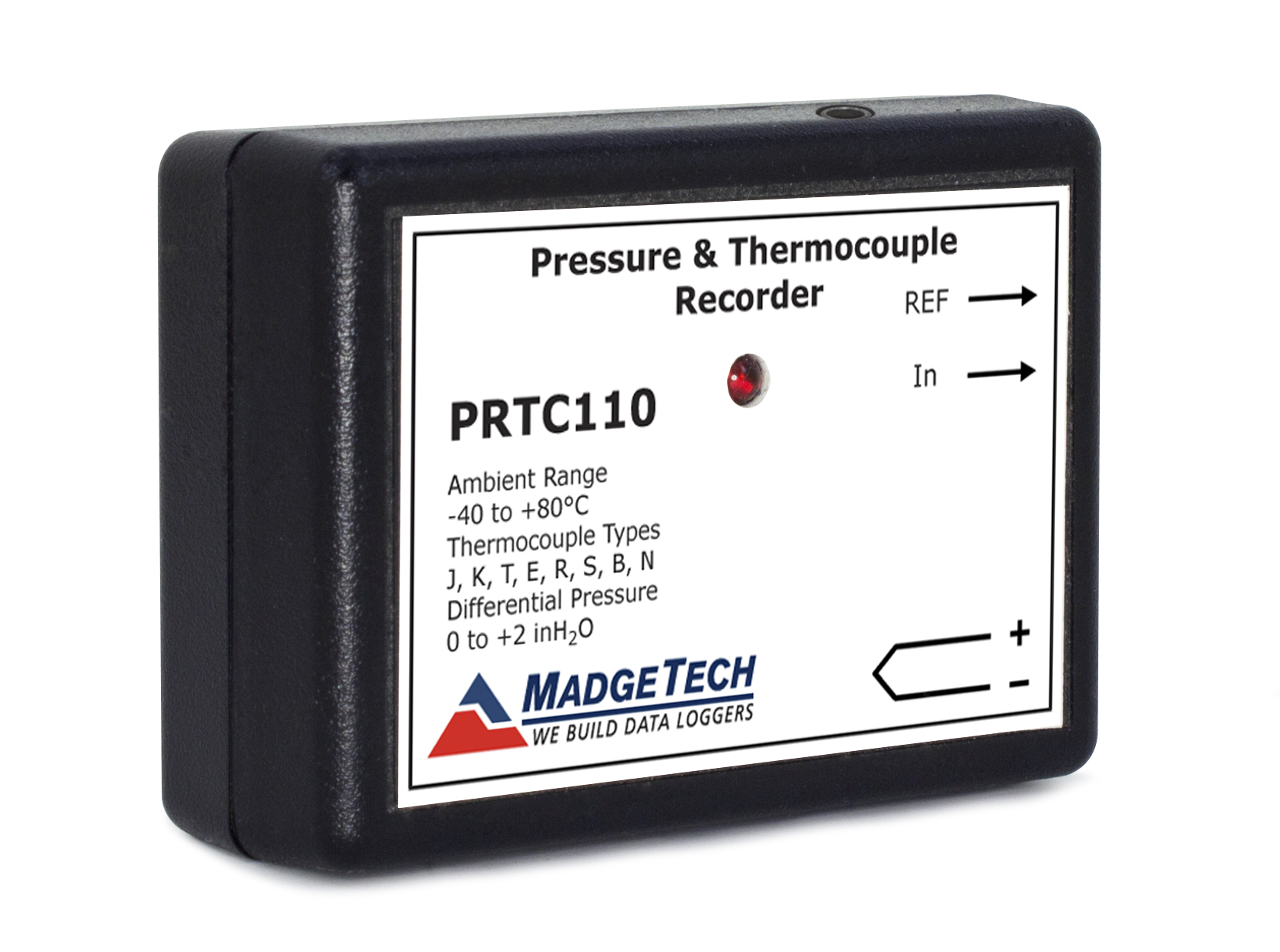 PRTC110 differential pressure and temperature data logger