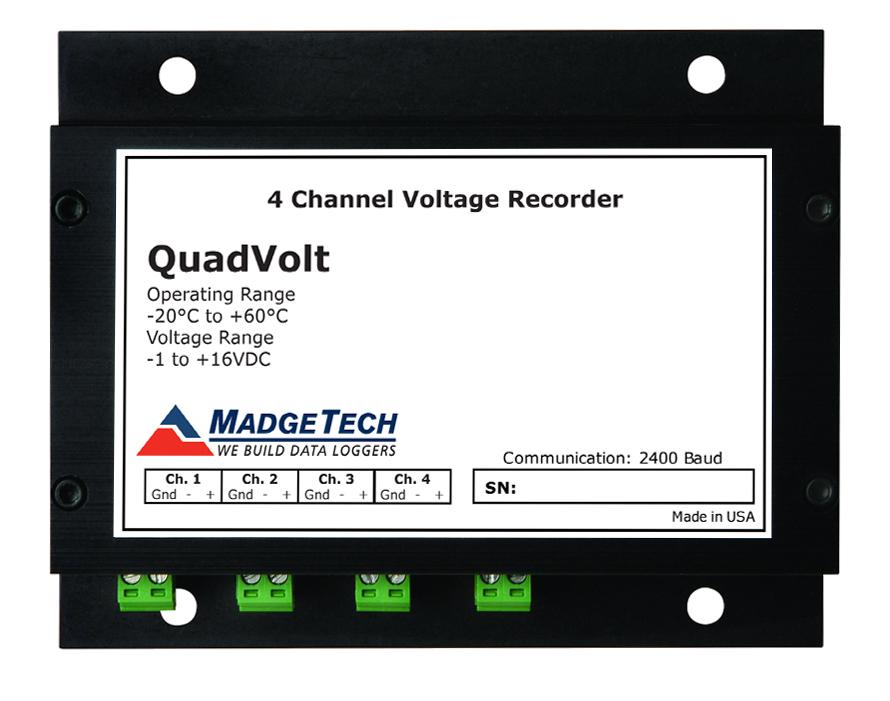 QuadVolt 4 channel voltage datalogger