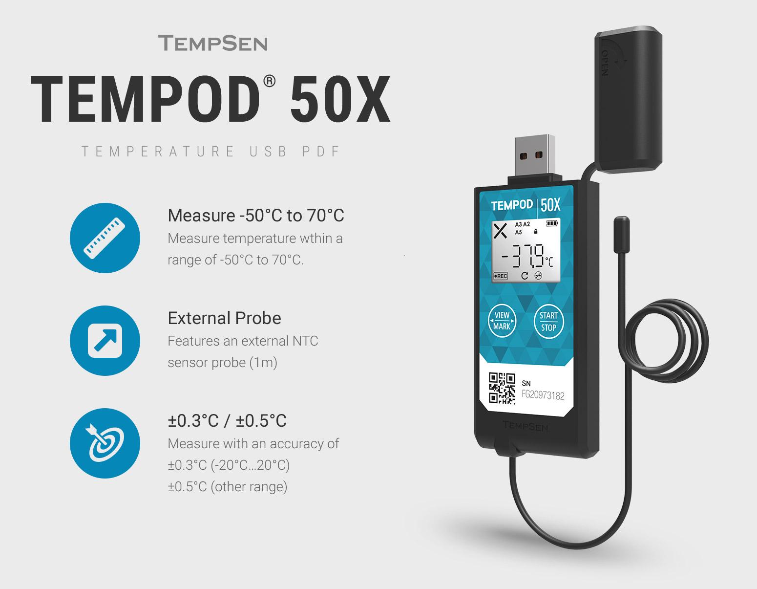 Introducing the Tempod 50X Data Logger
