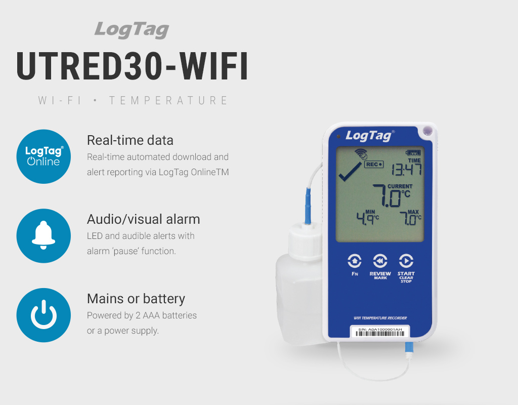 A Guide to Logtag's uTRED30-WiFi Temperature Data Logger