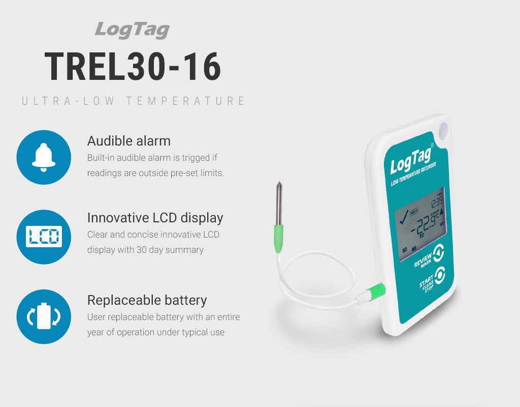 LogTag Launches TREL30-16 Data Logger