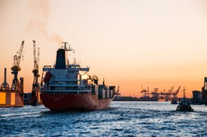 Stock image of shipping boat