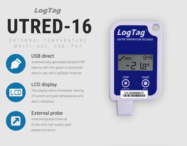 Logtag's UTRED-16: Temperature Data Logger for Insulated Shipping